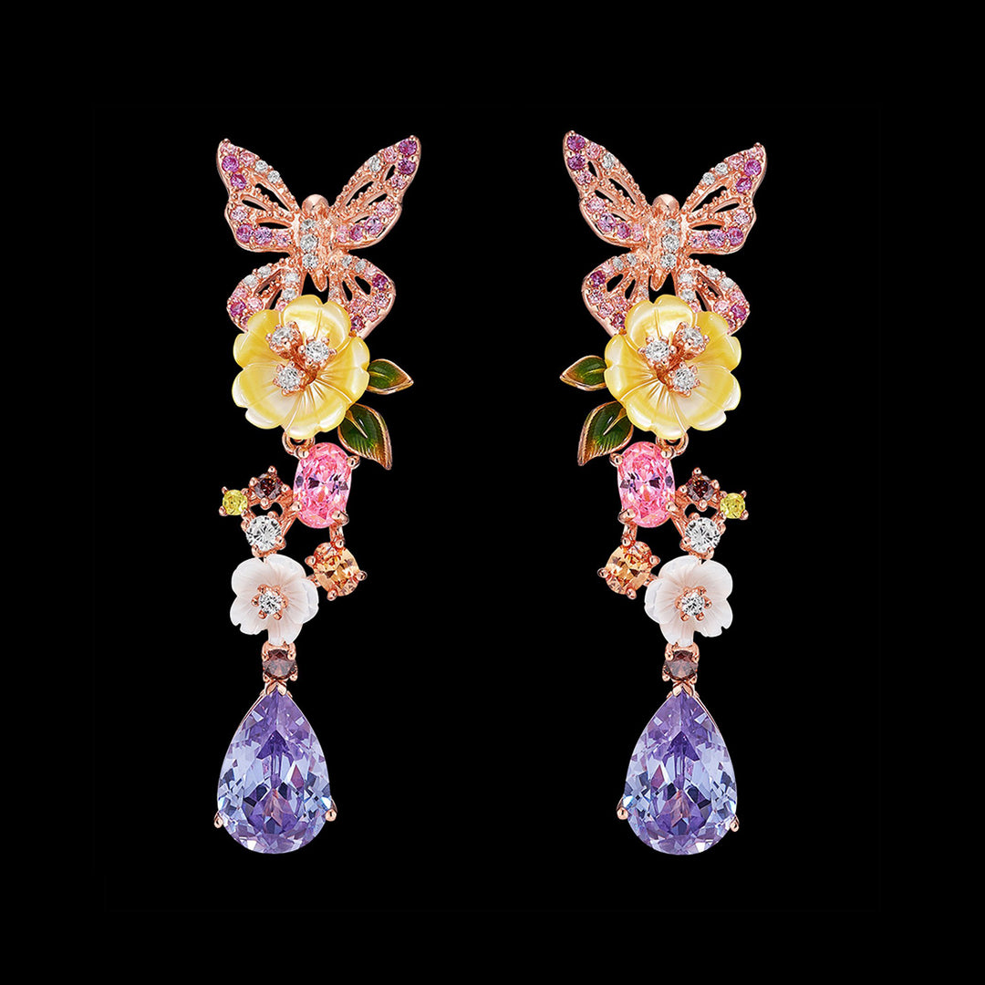 Amethyst Vine Earrings