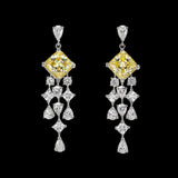 Asscher Canary Earrings