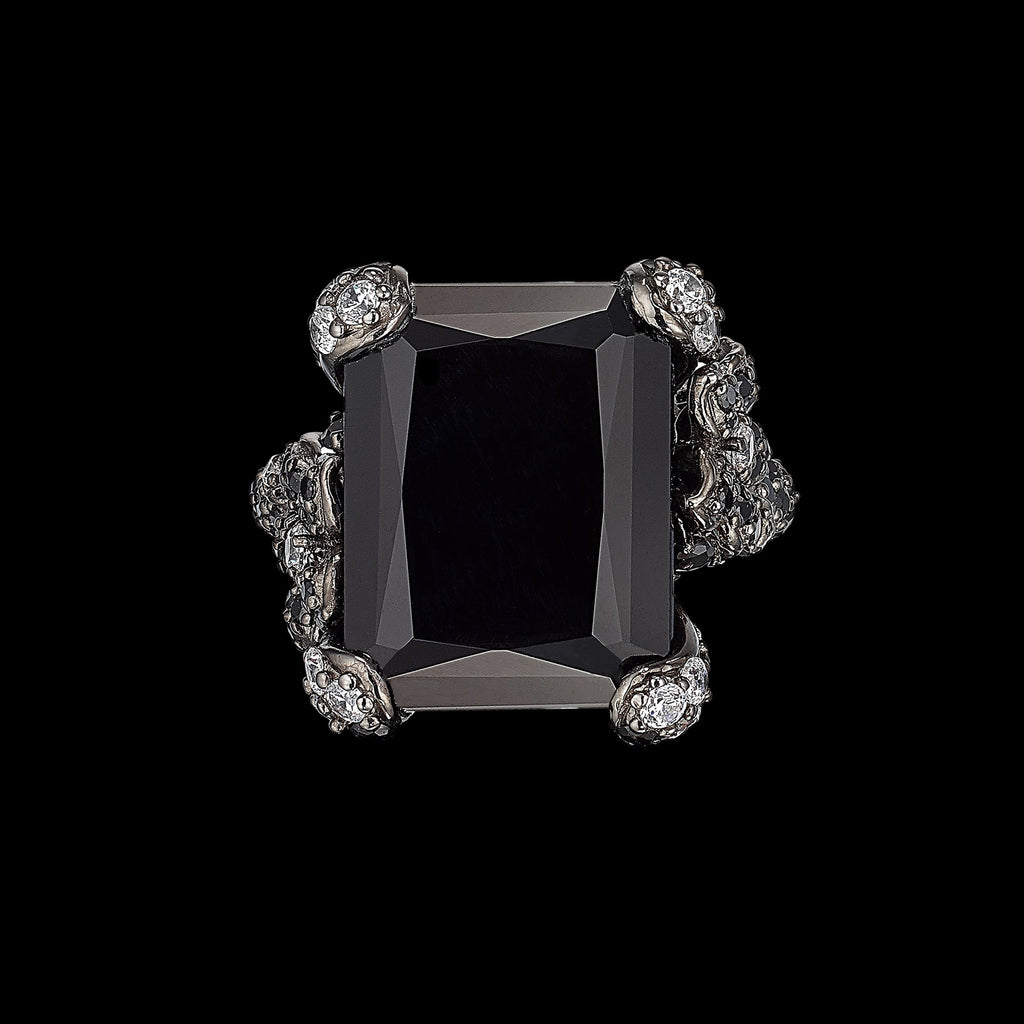 Black Diamond Cinderella Ring