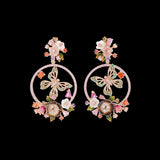 Rose Butterfly Wreath Earrings