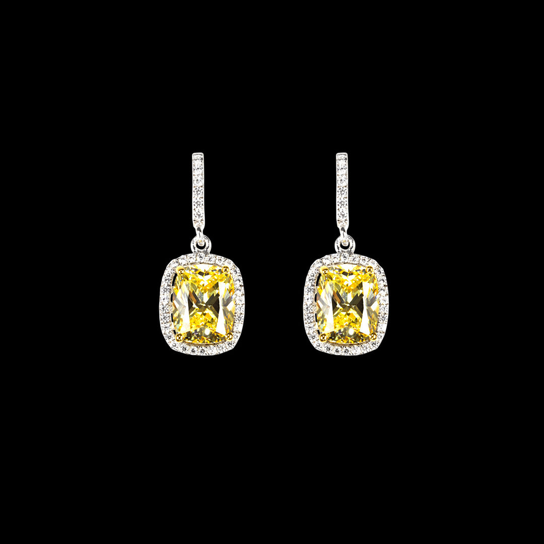 Comet Canary Diamond Earrings