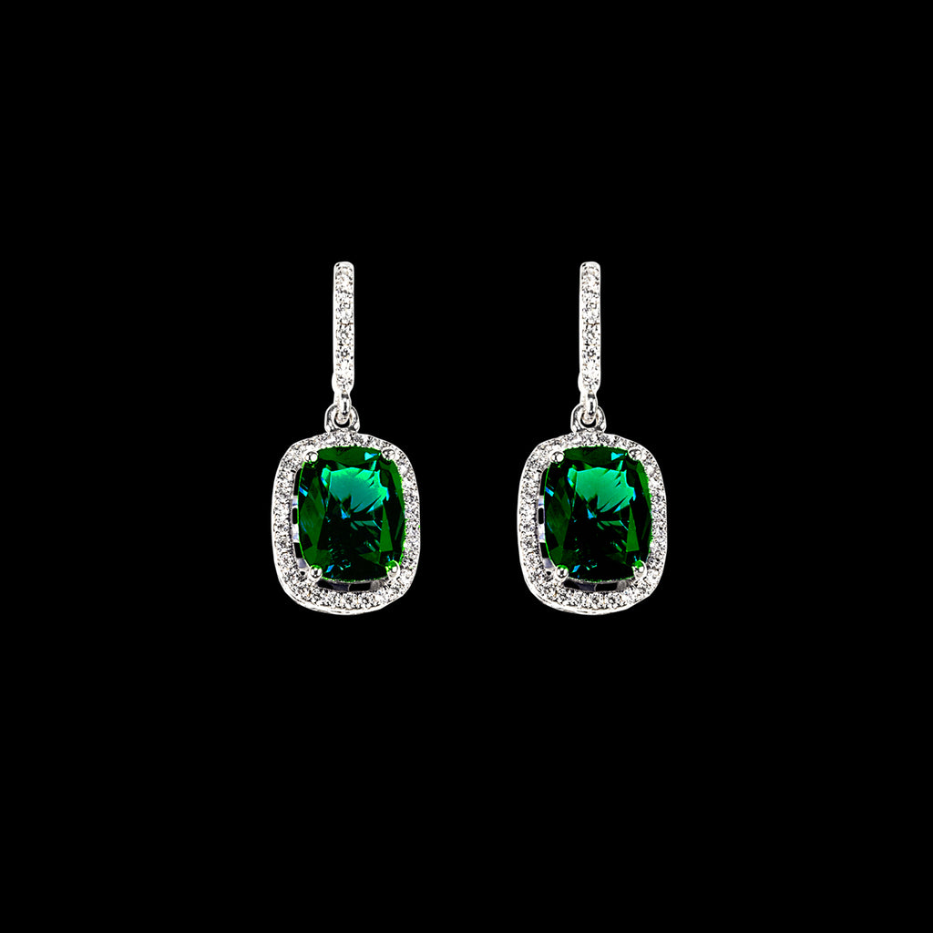Comet Emerald Earrings
