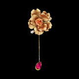 Citrine Parrot Bloom Pin