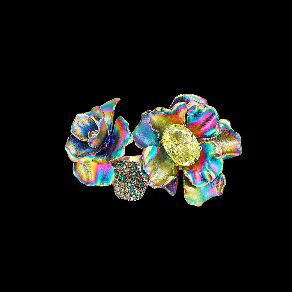 Citrus Rainbow Flower Ring