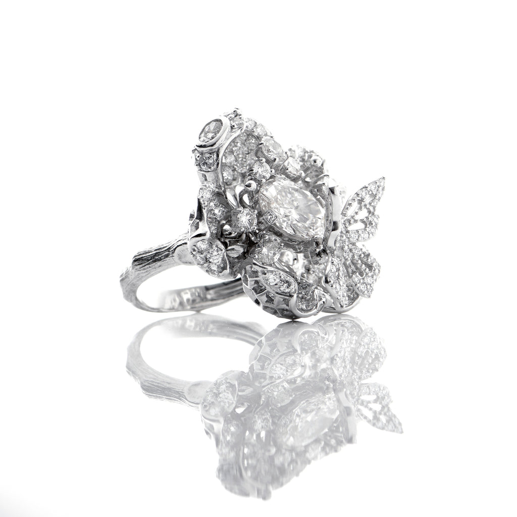 AC x Diamond Foundry . Bloom Ring