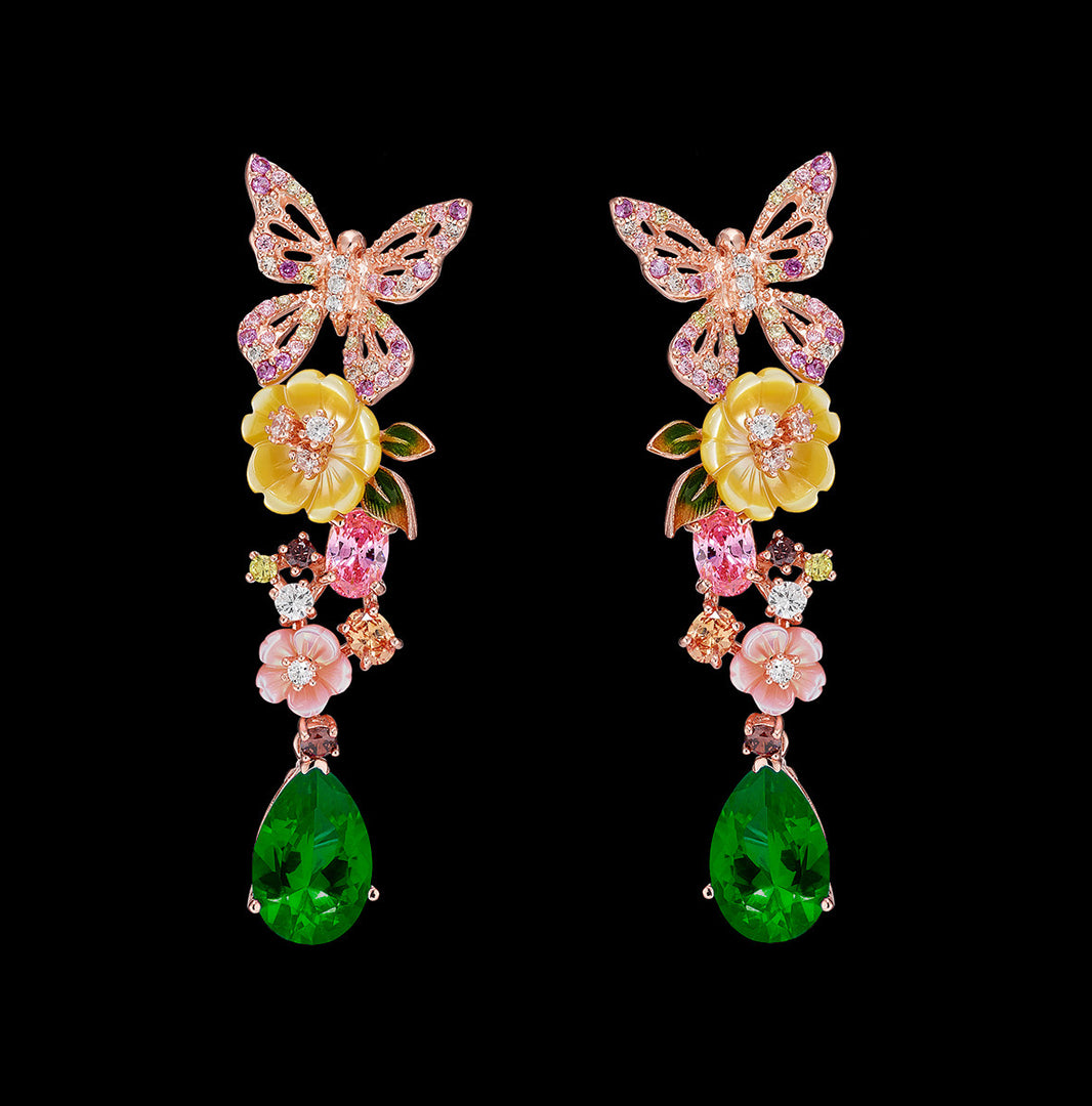 Emerald Vine Earrings