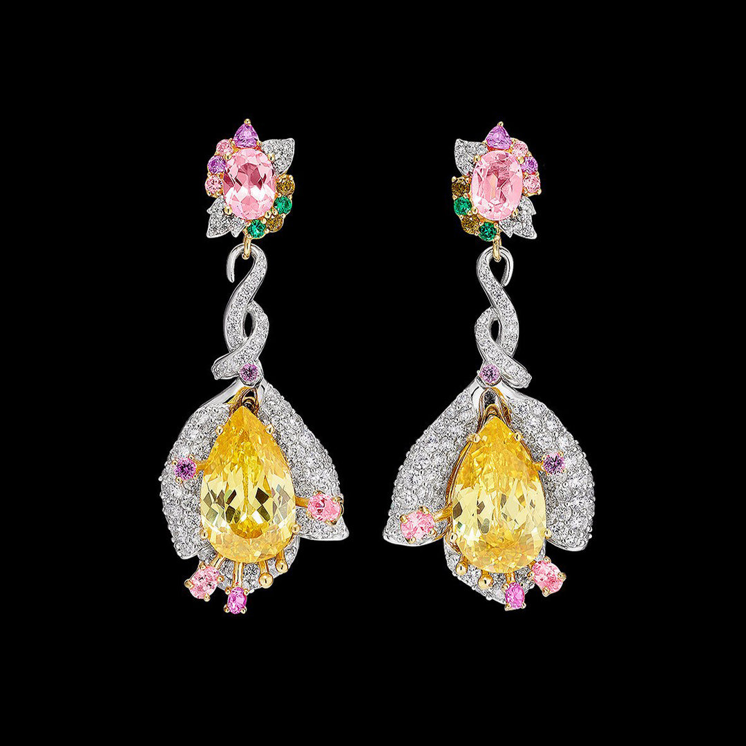 Fuchsia Canary Earrings