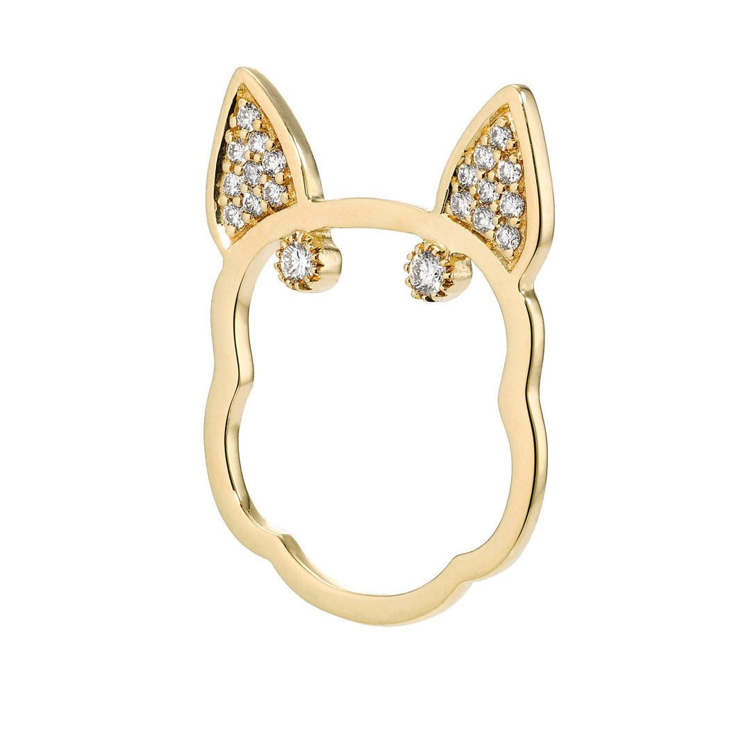 Diamond Frenchie Ring