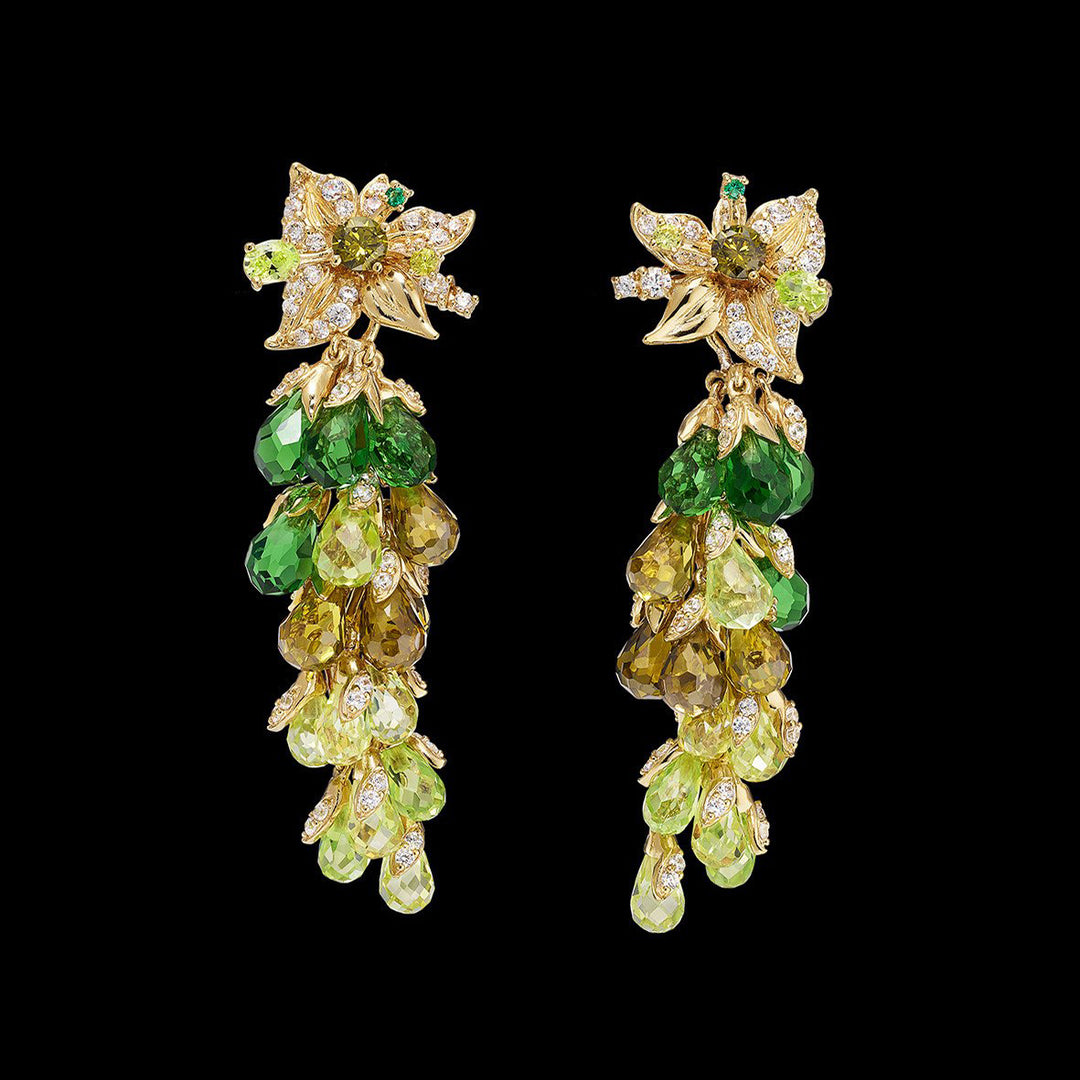 Emerald Coralbell Earrings