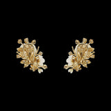 Ivory Floral Cluster Earrings