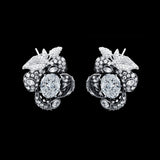 Mini Blossom Diamond Earrings