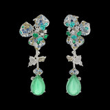 Paraiba Orchid Earrings