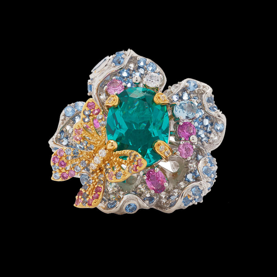 Paraiba Bloom Ring