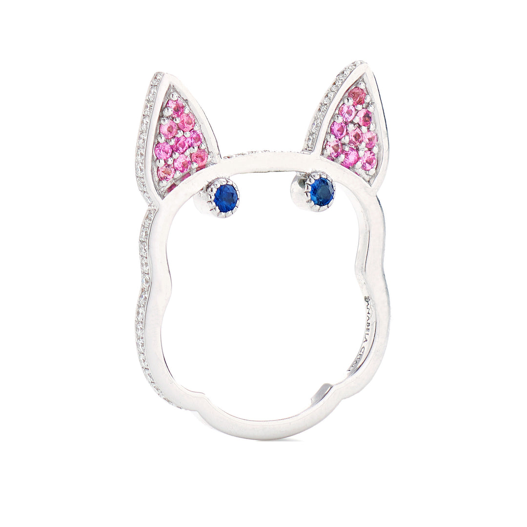 Pink Diamond Frenchie Ring