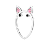 Pink Diamond Terrier Ring