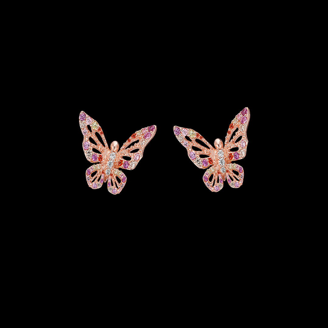 Rose Butterfly Studs