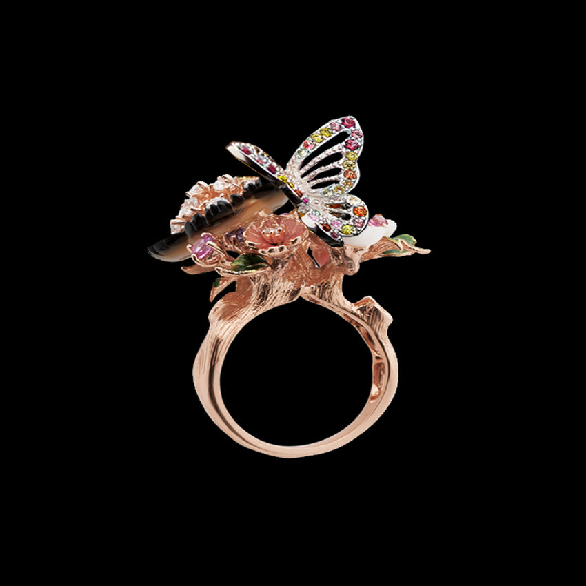Rose Butterfly Garden Ring