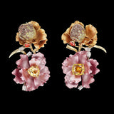 Rose Magnolia Earrings