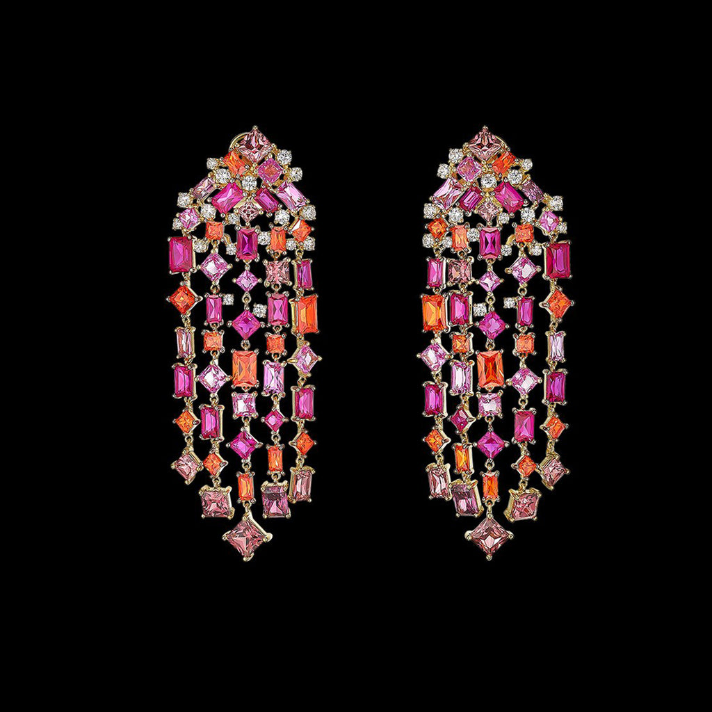 Ruby Cascade Earrings