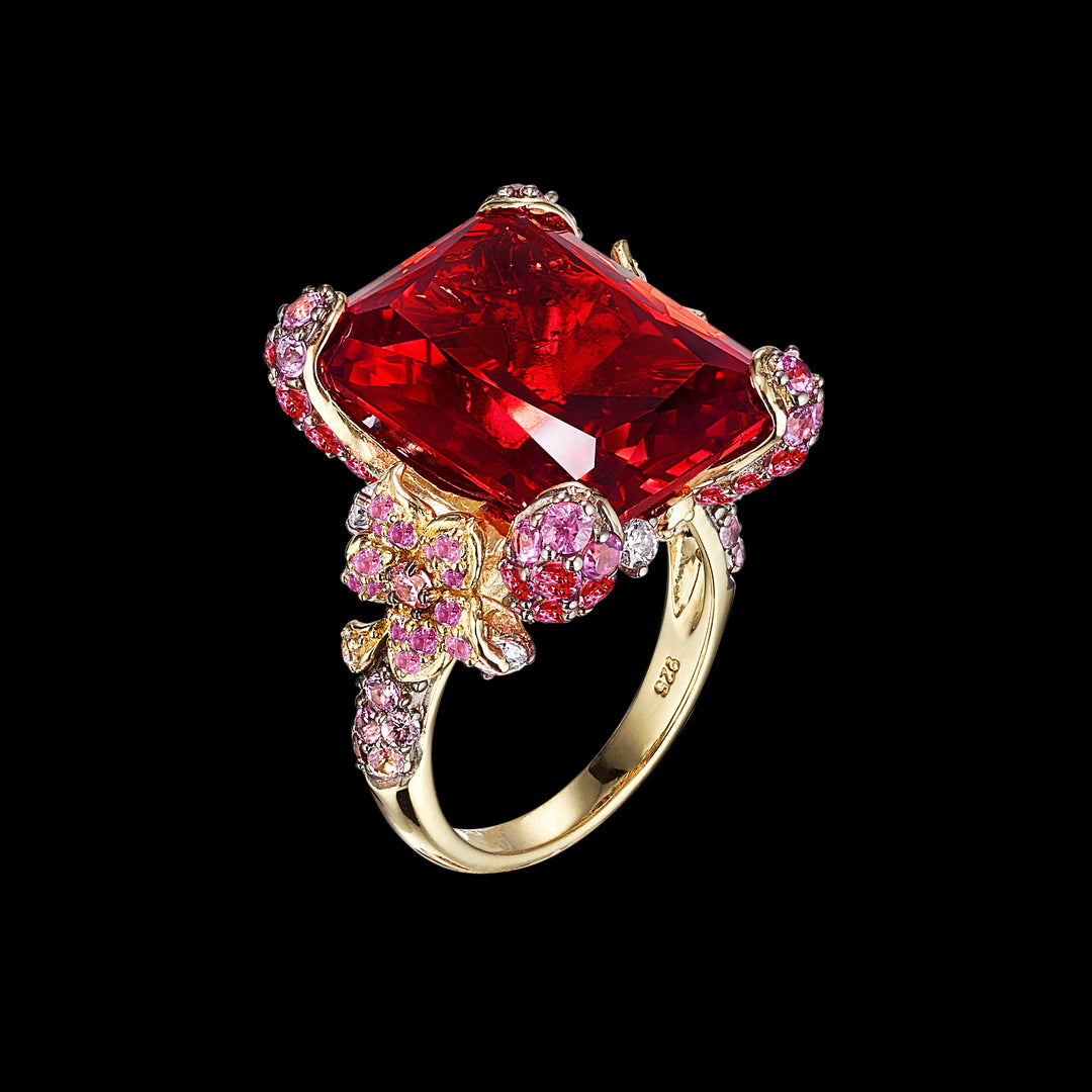 Ruby Cinderella Ring