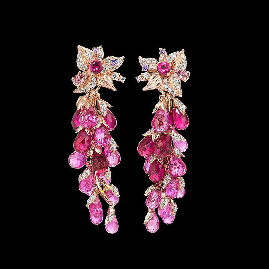 Ruby Coralbell Earrings
