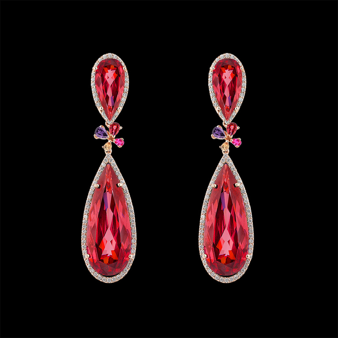Ruby Papillon Earrings