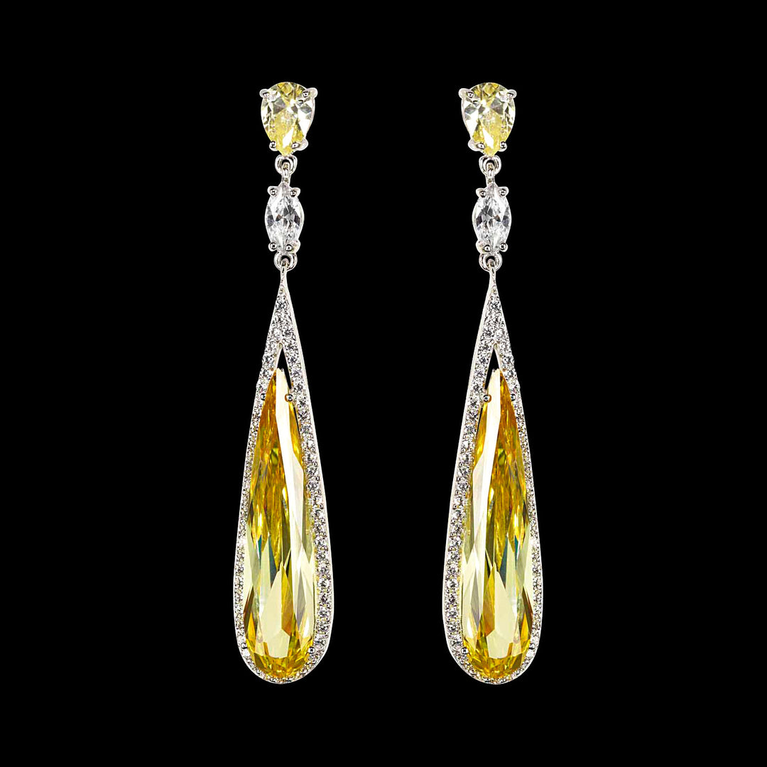 Shard Citrine Earrings