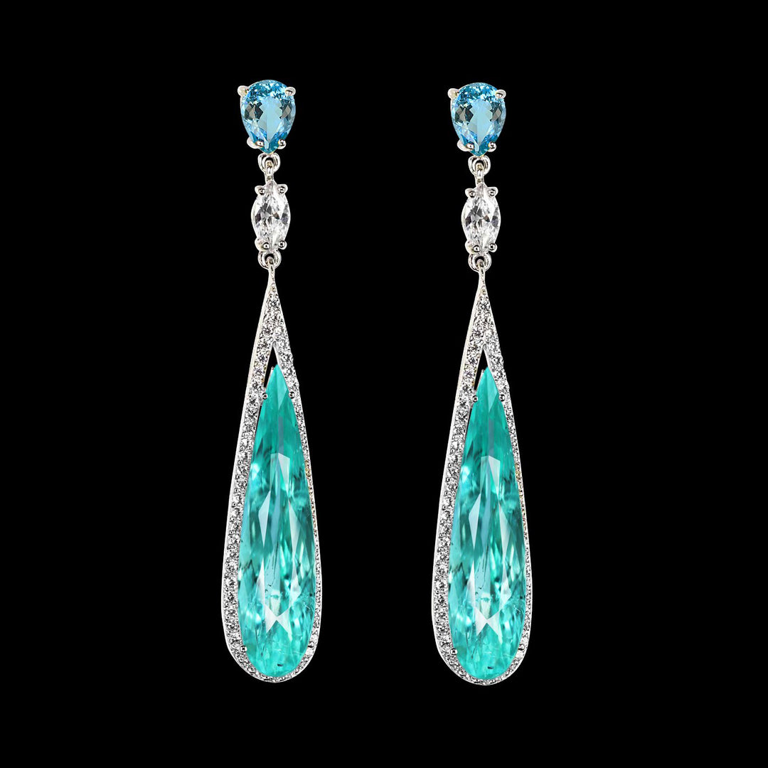 Paraiba Shard Earrings