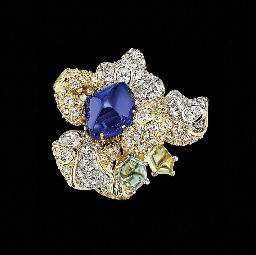 Sapphire Blossom Ring