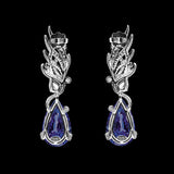 Sapphire Feather Earrings
