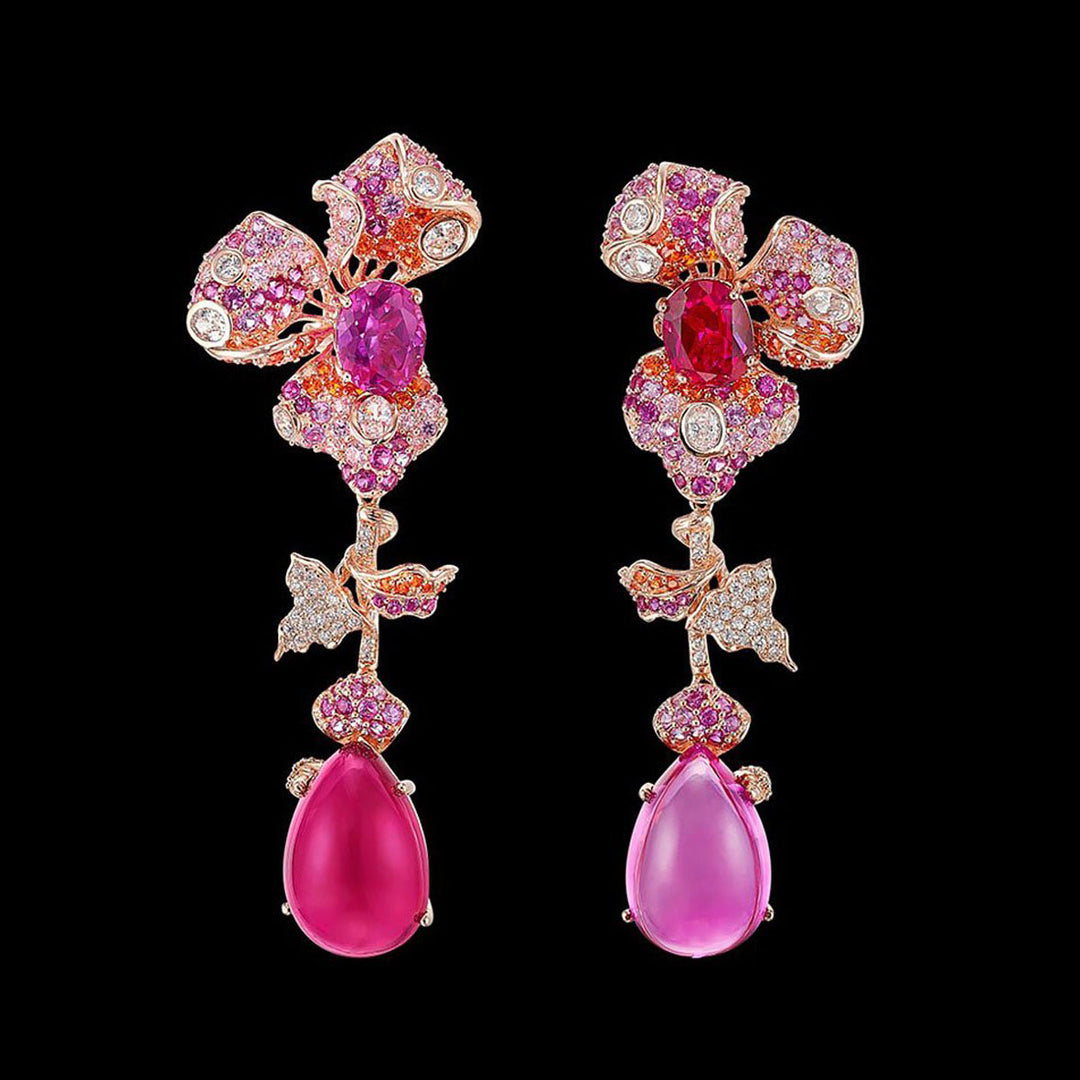 Sunset Orchid Earrings