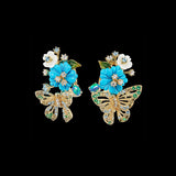 Turquoise Butterfly Bouquet Earrings