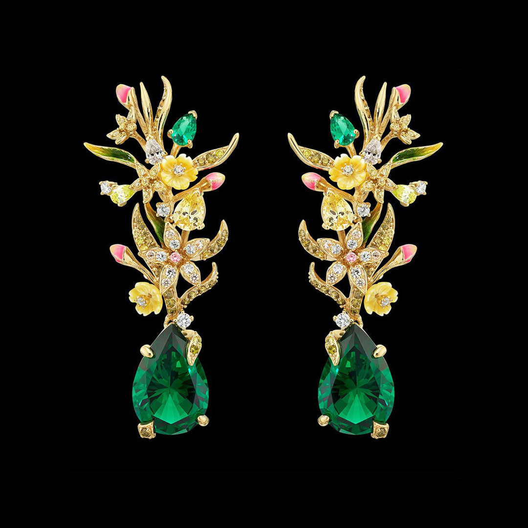 Posie Emerald Earrings