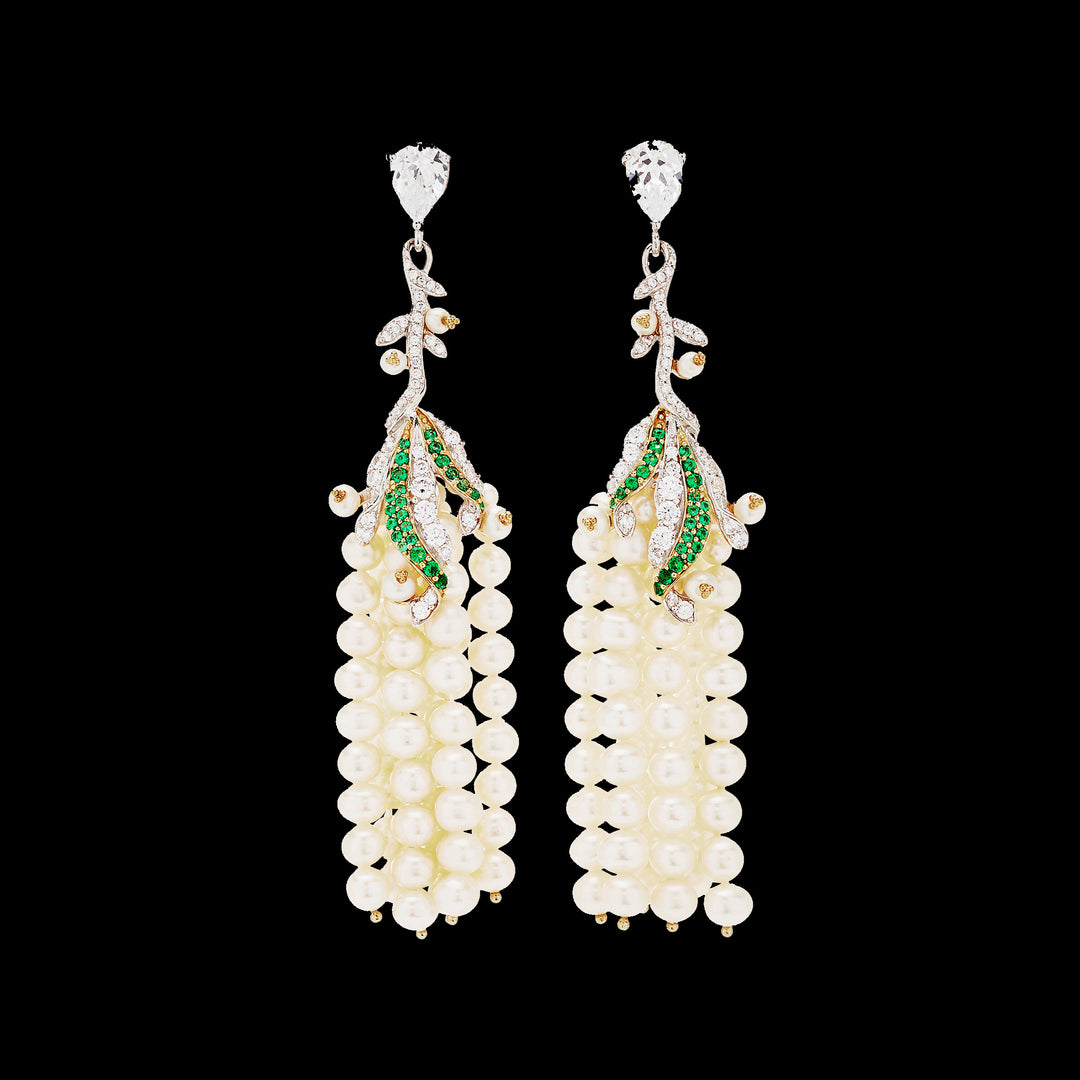 Pearl Lily of the Valley Earrings