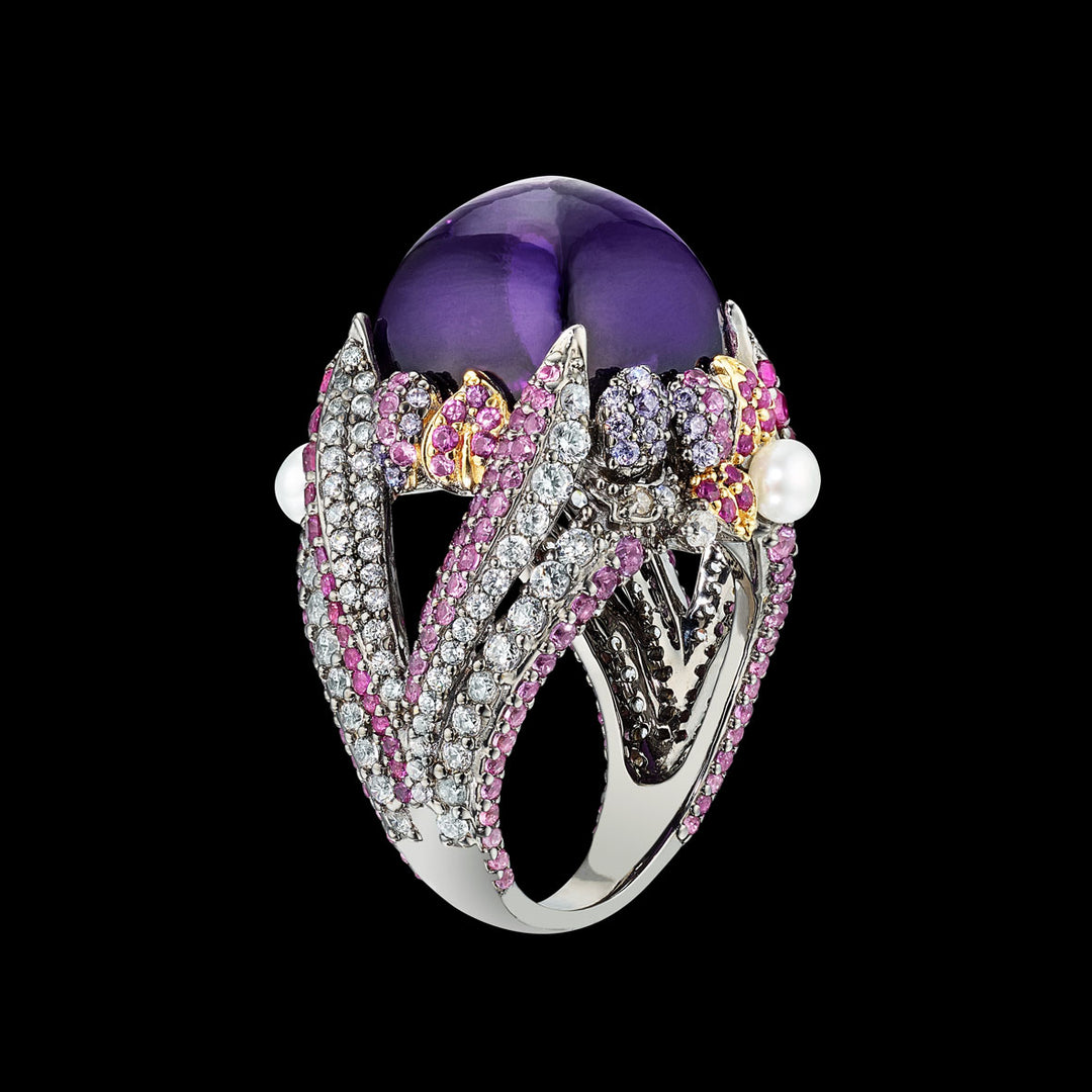 Amethyst Sugarloaf Berry Ring