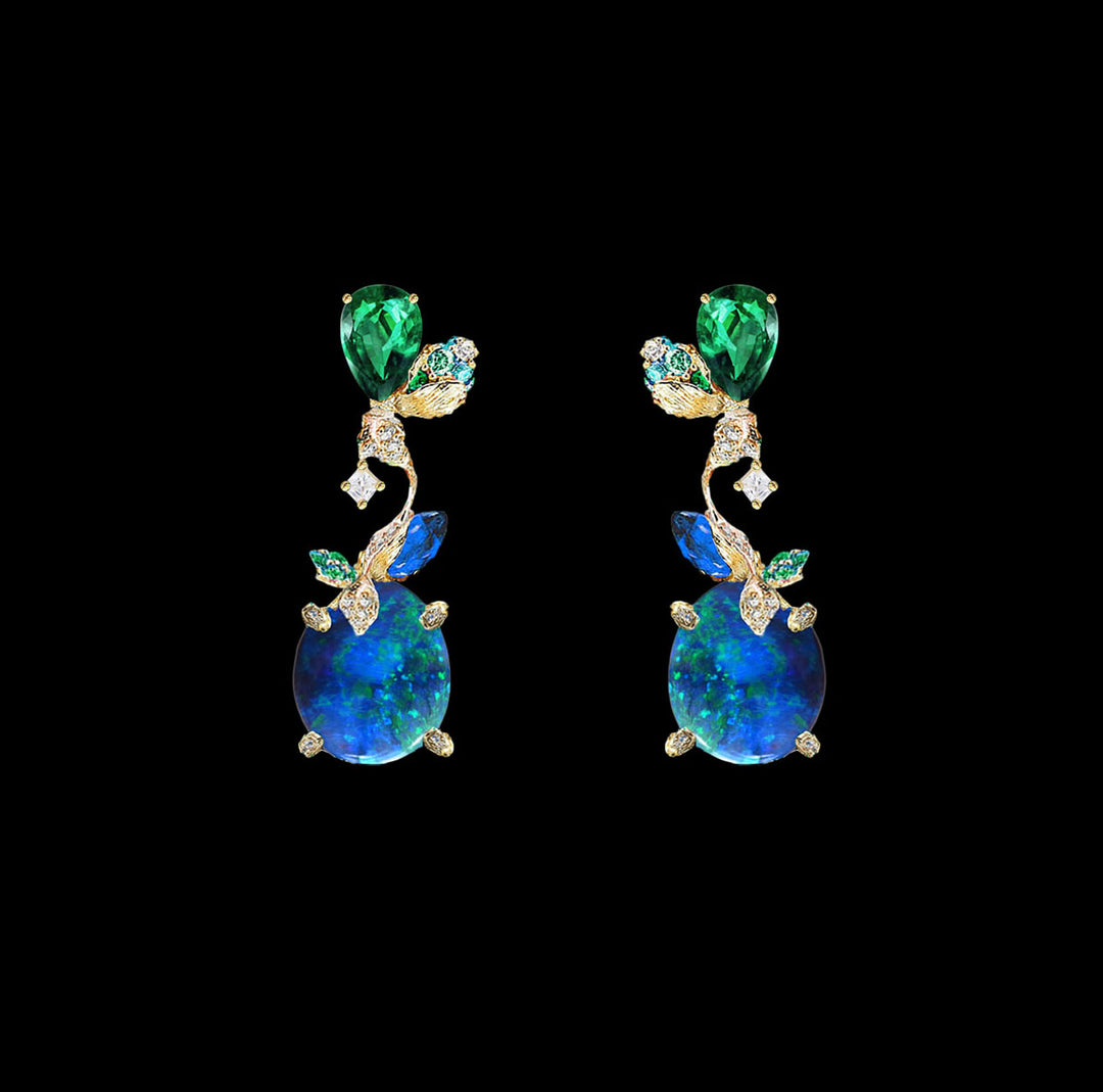 Blue Opal Carnivora Earrings