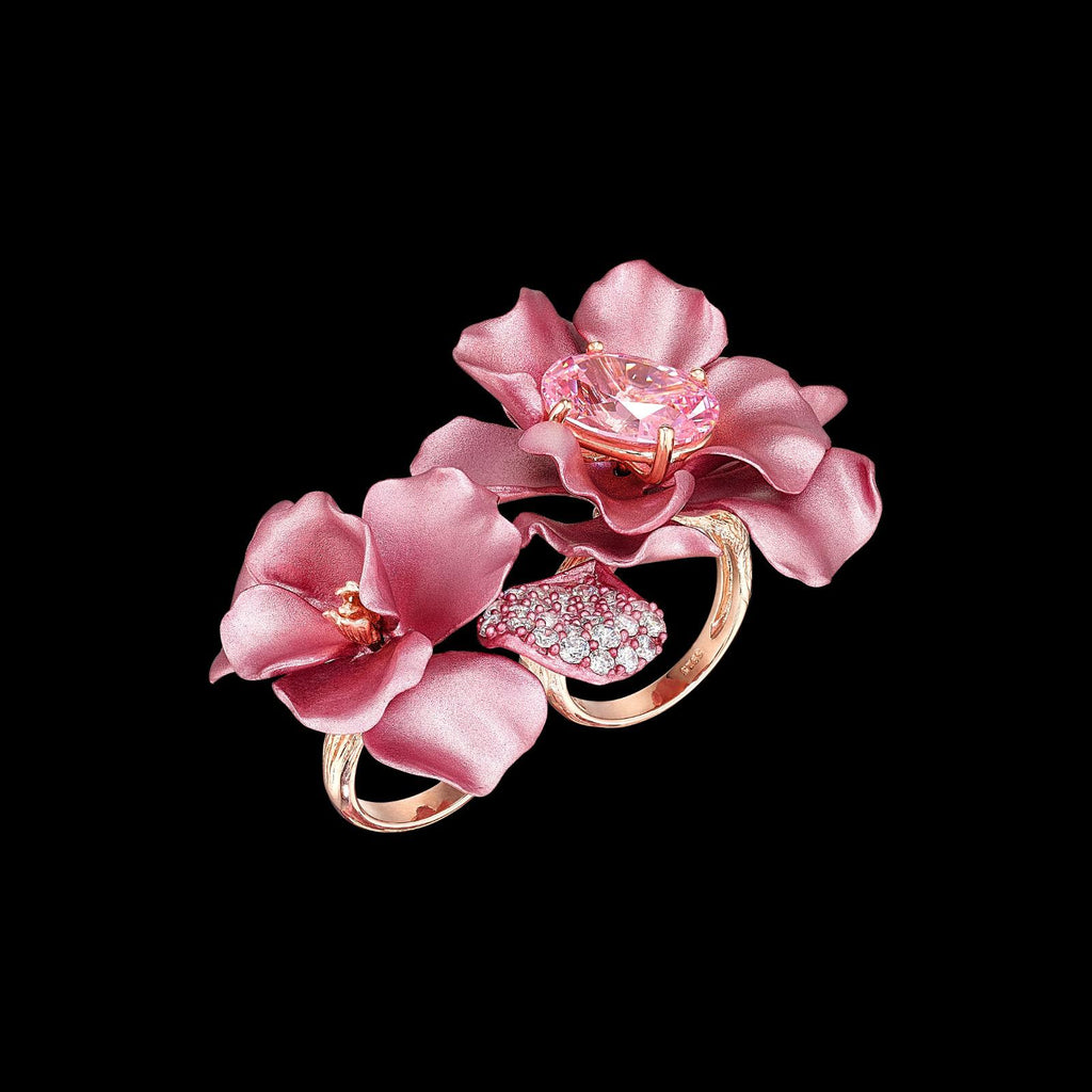 Blush Rose Flower Ring