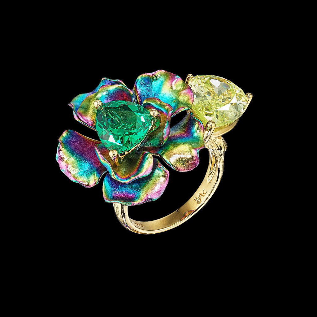 Acid Rainbow Bloom Ring