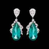 Diamond Paraiba Peacock Earrings
