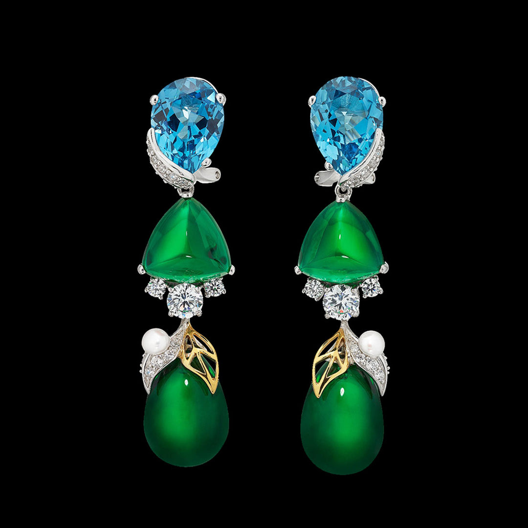Emerald Berry Earrings