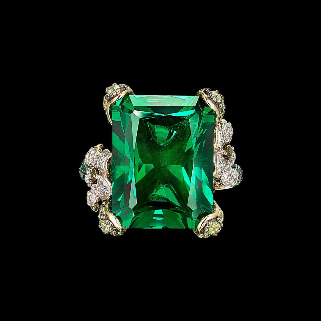 Emerald Cinderella Ring