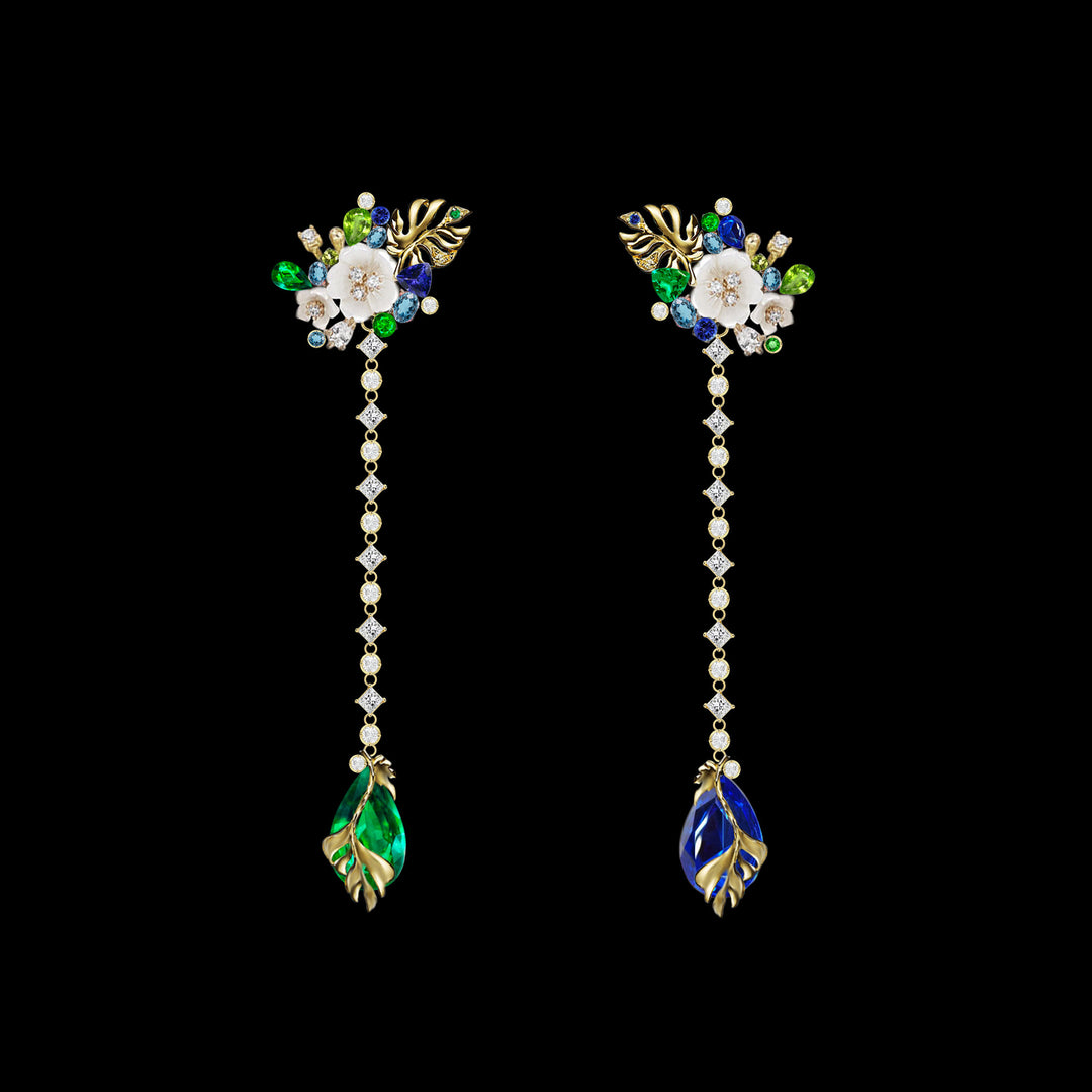 Emerald Paradise Drop Earrings