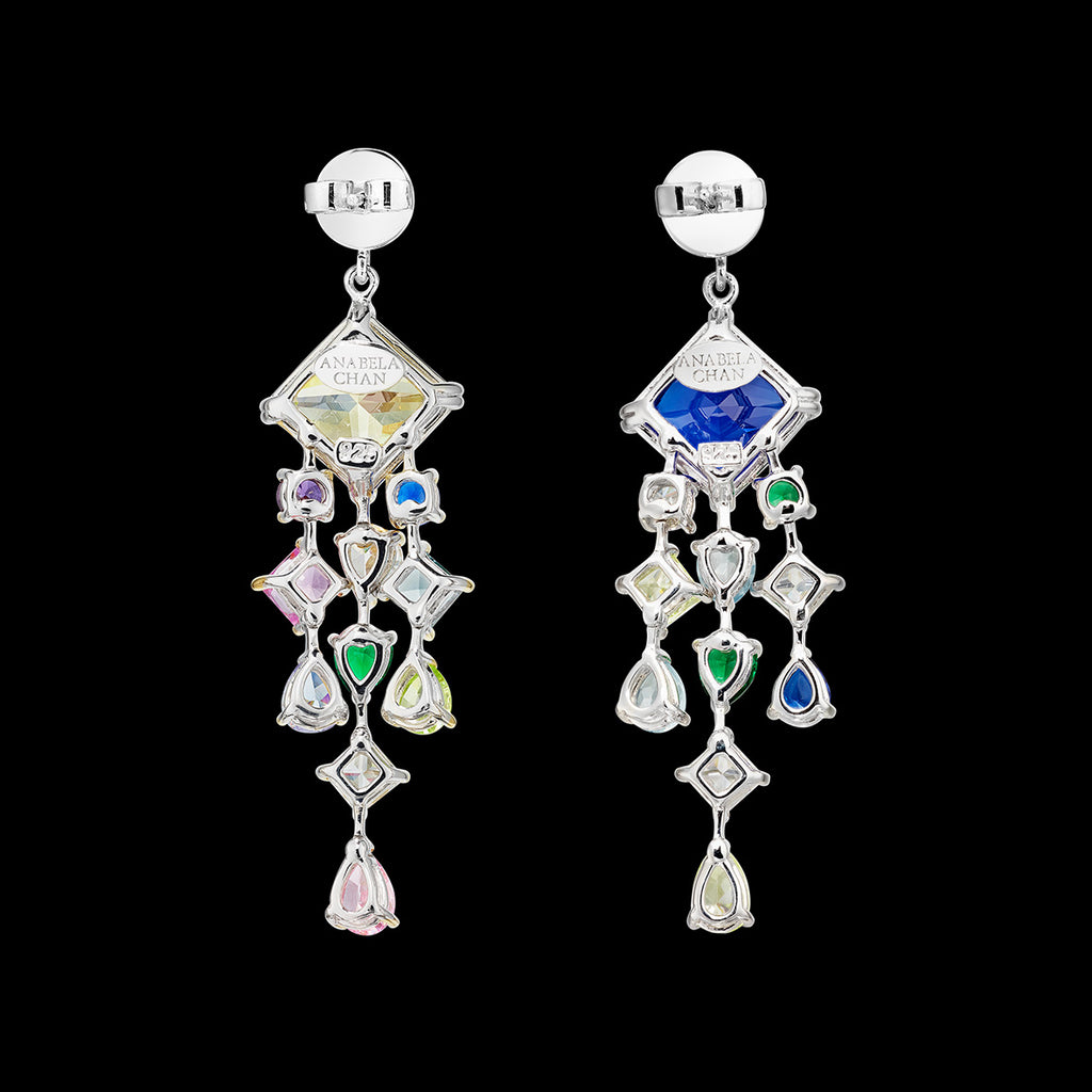 Emerald Asscher Drop Earrings
