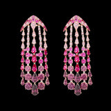 Fuchsia Ombre Waterfall Earrings