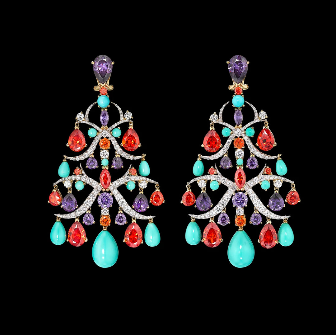 Imperial Ivy Chandelier Earrings