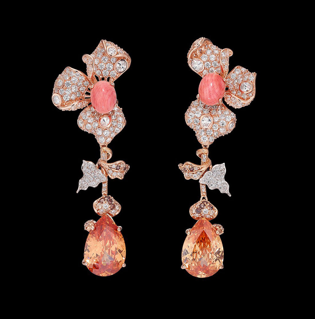 Orchid Citrine Earrings