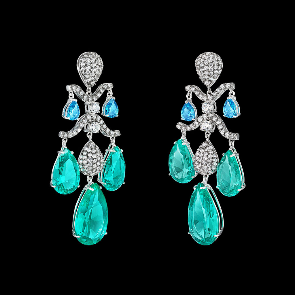 Paraiba Chandelier Earrings