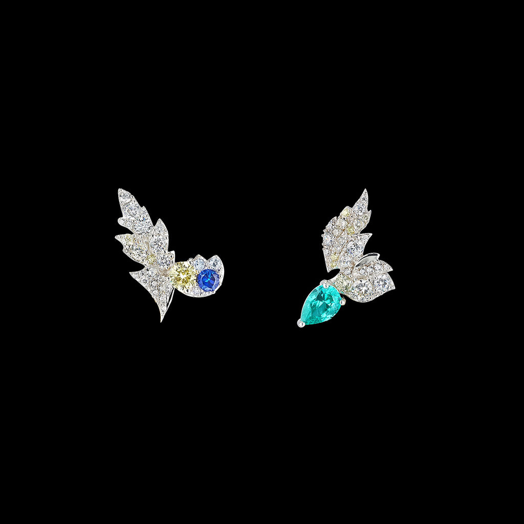Paraiba Garden Butterfly Earrings