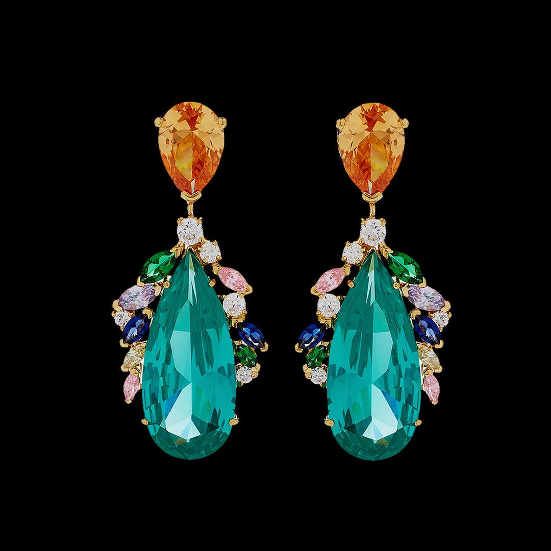 Peacock Paraiba Earrings