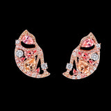 Pink Grapefruit Slice Earrings
